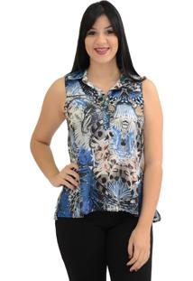 Camisa Energia Fashion Estampada Azul