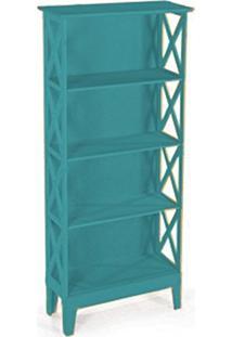 Cristaleira Colonial 2 Portas Atz 81 - Azul Turquesa