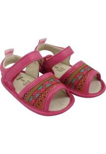 Sandália Catz Calçados Couro Lolla Hippie Feminina - Feminino-Pink