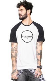 Camiseta Quiksilver Hunter Down Branca/Preto