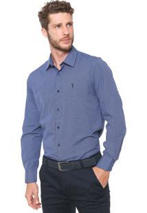 Camisa Aleatory Slim Listrada Azul