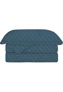 Conjunto De Colcha Tress㪠Casal- Azul Marinho- 3Pã§S