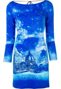 Just Cavalli Vestido Tie Dye - Azul