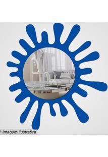 Espelho Splash- Espelhado & Azul- 31,5X35X5Cm- Ccia Laser