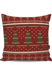 Capa De Almofada ÁRvores De Natal- Vermelha & Verde-Stm Home