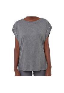 Camiseta Colcci Comfort Cinza Mescla Feminino Cinza