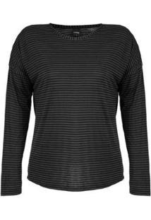Blusa Plus Size Rovitex Premium Feminina - Feminino-Preto