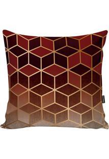 Capa Para Almofada New Geometric- Vermelha & Marrom-Stm Home