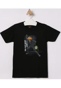 Camiseta Cat Noir® - Preta & Branca - Malwee Kidsmalwee