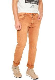 Calça Jeans Colcci Skinny Pedro Caramelo