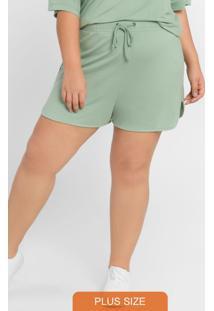 Shorts Com Cordão Para Amarração Verde