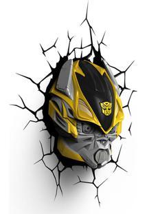 Luminária 3D Light Fx Transformers Mascuino Amarelo