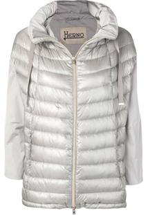 Herno Metallic Puffer Jacket - Cinza