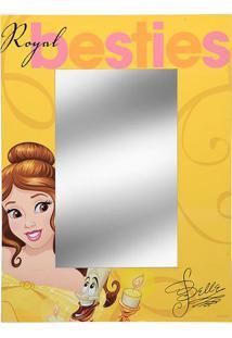 Espelho Bela®- Espelhado & Amarelo- 40X30X1Cm- Mmabruk