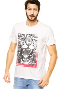 Camiseta Manga Curta Colcci Onça Off-White