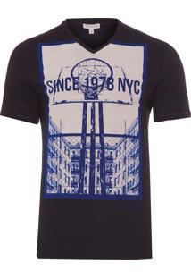 Camiseta Masculina Estampa Basquete - Preto