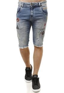Bermuda Jeans Rock E Soda Masculina - Masculino