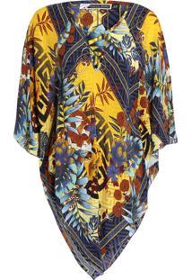 Blusa Feminina Hidden Tiger Sunny - Amarelo E Azul