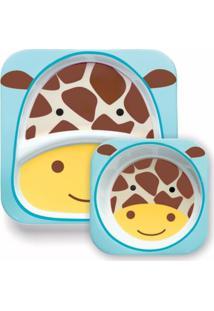 Conjunto De Prato E Tigela - Zoo - Girafa - Skip Hop