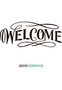 Adesivo Decohouse De Parede Welcome Preto