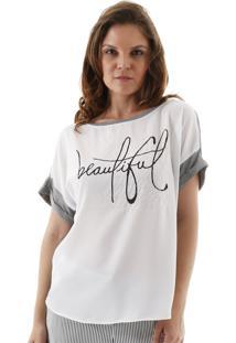Blusa Aha Silkada Beautiful Off-White