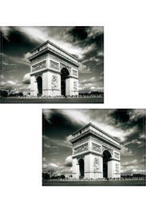 Jogo Americano Colours Creative Photo Decor - Arco Do Triunfo Em Paris, Na França - 2 Peças