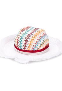 Missoni Mare Zig-Zag Woven Sun Hat - Branco