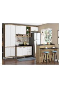Cozinha Completa Multimóveis Com 6 Peças Sicília 5846 Argila/Branco