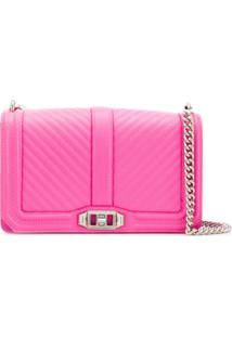 Rebecca Minkoff Chevron Quilted Love Crossbody Bag - Rosa