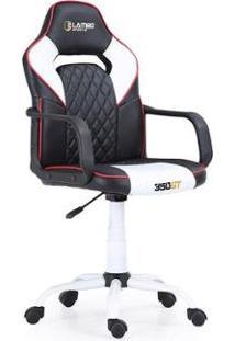 Cadeira Gamer 350Gt X10 Estrutura Esportiva Ergonômica Assento 360° Braços Fixos Black/White - Unissex-Preto