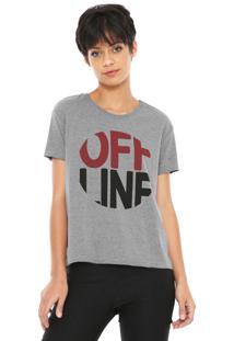 Camiseta Dzarm Off Line Grafite