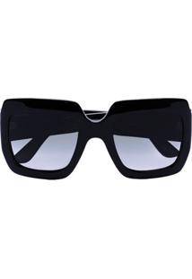 Gucci Eyewear Square-Frame Gg Acetate Sunglasses - Preto