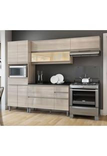 Cozinha Compacta Belíssima Plus Ii 9 Pt 4 Gv Saara Wood E Granito Slate