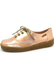 Tênis Creeper Quality Shoes Feminino 005 Verniz Metalizado 35