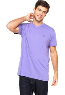 Camiseta Polo Play Lisa Roxa