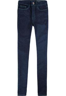 Calça Azul Escuro Skinny Flex Jeans Feminina