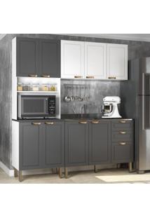 Cozinha Completa 3 Peças Americana Multimóveis 5907 Branco/Grafite
