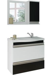 Conjunto De Banheiro Grécia Branco E Preto