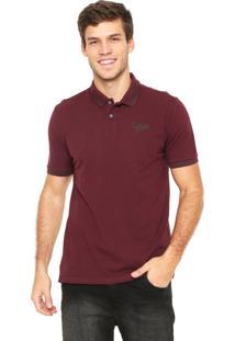 Camisa Polo Calvin Klein Jeans Básica Vinho