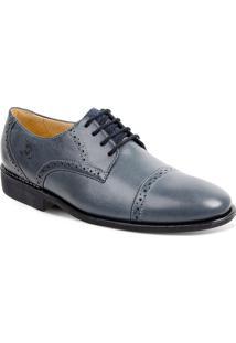 Sapato Em Couro Verona 220210 - Masculino-Azul