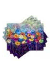 Jogo Americano - Flores Com 4 Peças - 858Jo