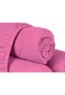 Lençol Com Elástico Casal Queen 1 Peça Montreal Pink