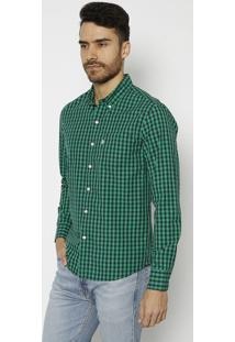 Camisa Xadrez Com Bolso- Verde Escuro & Azul Marinholevis