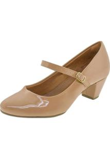 Sapato Feminino Salto Baixo Villa Rosa - 882188032 Bege