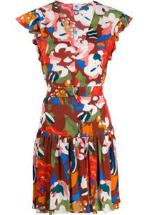 Missoni Floral Print Flared Dress - Vermelho