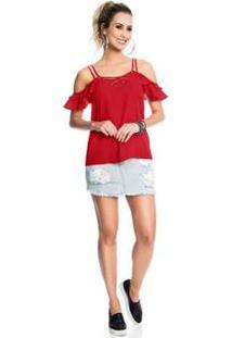 Blusa Endless Verão Feminina - Feminino-Vermelho