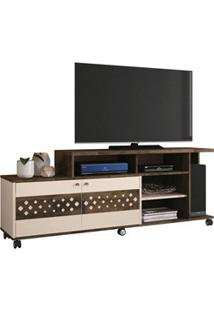 Rack Bancada 2 Portas Para Tv Até 47 Pol. Inovatta Deck/Off White - Hb
