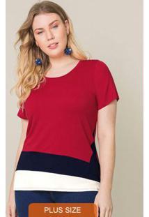 Blusa Com Mangas Vermelho
