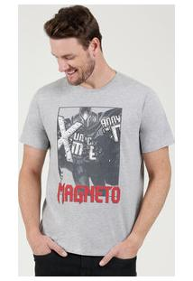 Camiseta Masculina Estampa Magneto Manga Curta Marvel