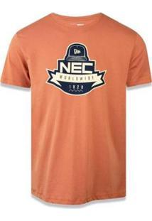Camiseta New Era Branded - Masculino-Marrom Claro